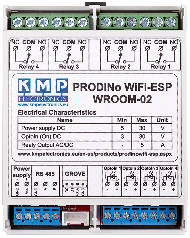 PRODINo WROOM-02 Module Specs