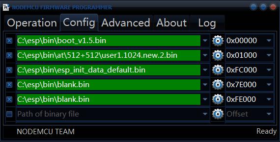 Select Firmware Update Binaries